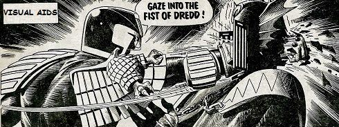 Gaze into the Fist of Dredd comic