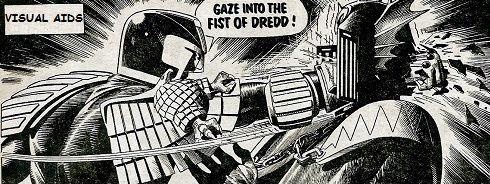 Gaze into the Fist of Dredd comic