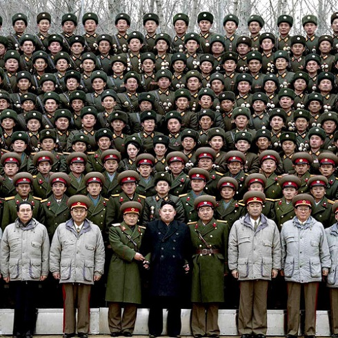 Kim Jong-un with Generals