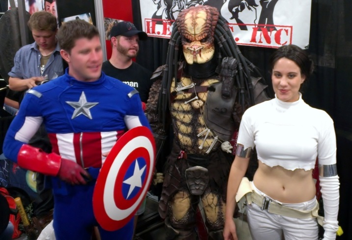 Captain America, Predator, Padme Cosplayer, Salt Lake Comic-Con