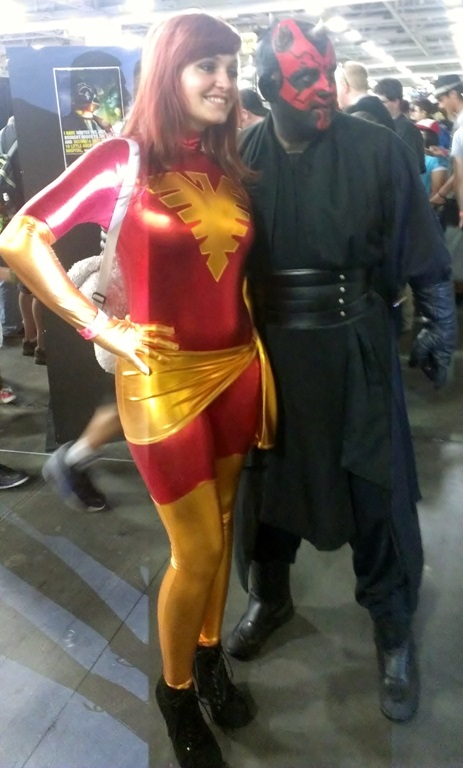 Phoenix and Darth Maul Cosplayers, Salt Lake Comic-Con
