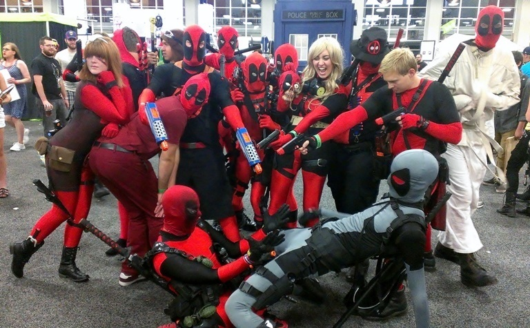 Deadpool Cosplayers, Salt Lake Comic-Con