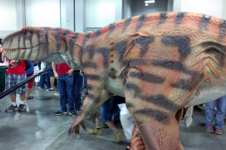 Dinosaur cosplay at Salt Lake Comic-Con