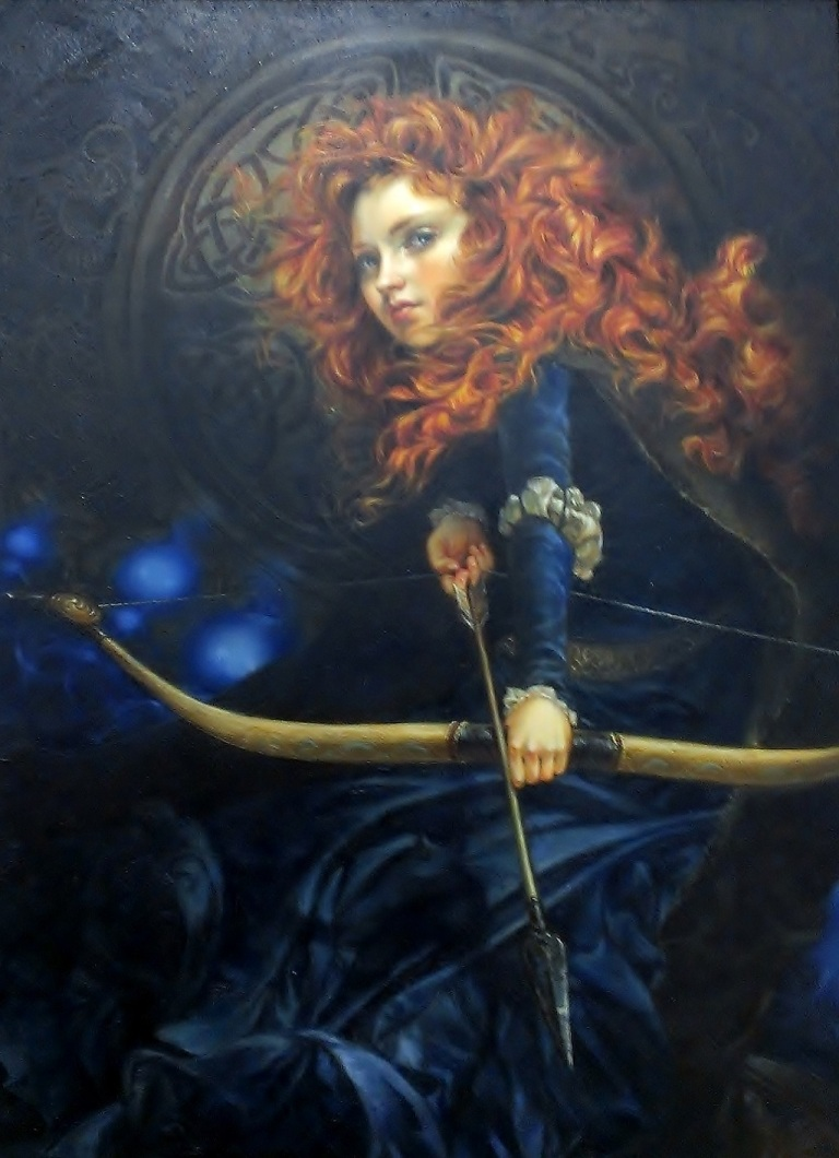 Merida painting at Salt Lake Comic-Con