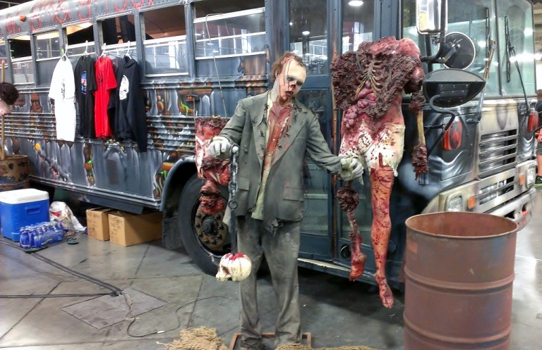 Fear Factory zombie and bus at Salt Lake Comic-Con