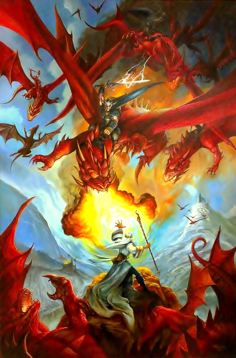 Jeff Easley dragon fantasy painting Salt Lake Comic-Con