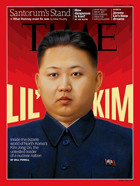 Kim Jong-un on cover of Time Magazine, February 2012