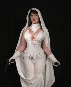 Bellechere the Cosplayer as Ghost from Dark Horse Comics