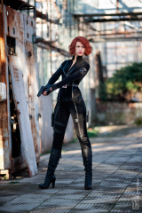Tall Cosplayer of Black Widow, Agent of S.H.I.E.L.D.