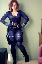 Blue uniform, Cosplay of Black Widow, Agent of S.H.I.E.L.D.