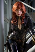 Boobs and cleavage, Cosplay of Black Widow