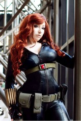 Sexy Cosplay of Black Widow
