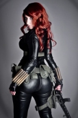 Curvy butt, Cosplay of Black Widow