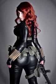 Curvy butt, Cosplay of Black Widow