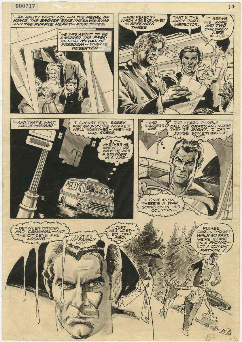 Page from Marvel Preview #2: The origin of the Punisher