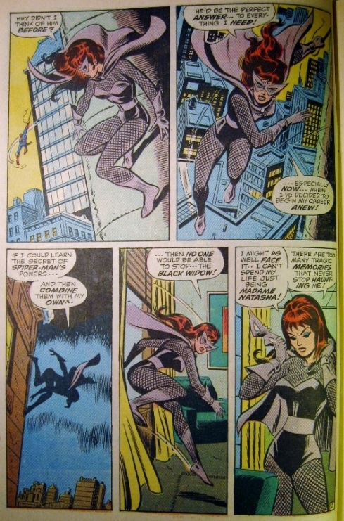 Black Widow follows Spider-man
