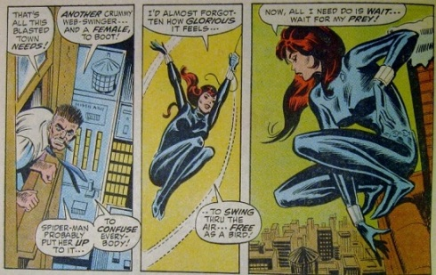 Black Widow goes hunting for Spider-man