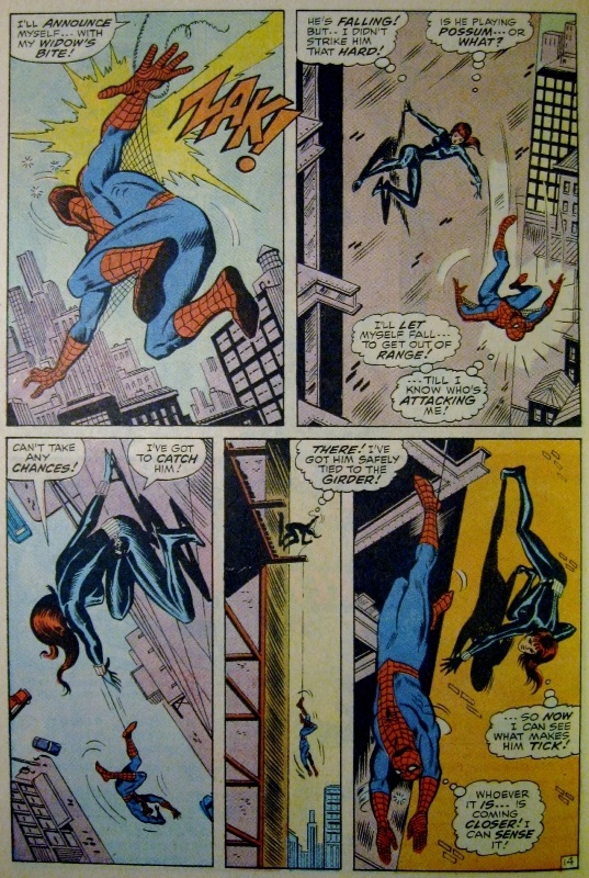 Black Widow attacks Spider-man