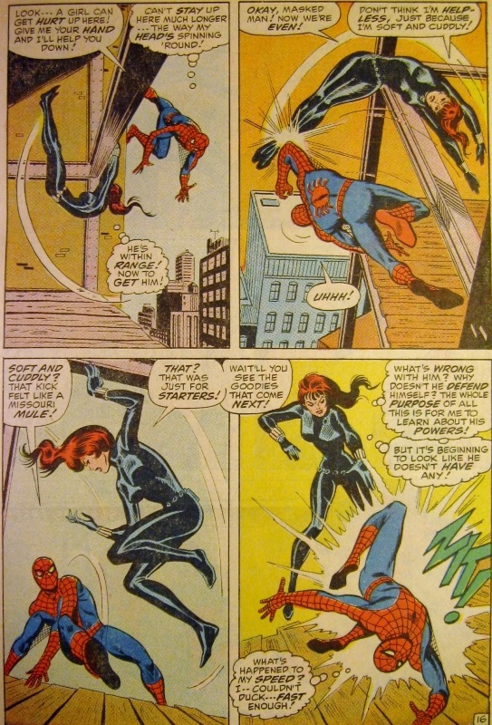 Black Widow and Spider-man continue to fight