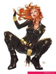 Black Widow crouching