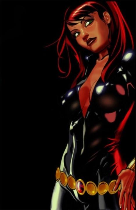 Black Widow sexy pose