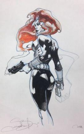 Black Widow color sketch