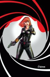 Black Widow homage to James Bond