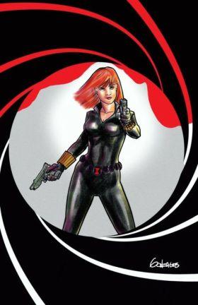 Black Widow homage to James Bond