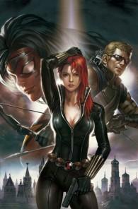Black Widow posing with gun