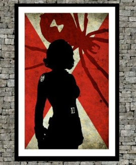 Black Widow color poster art (Avengers movie style)