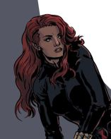 Black Widow color art