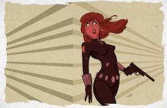 Black Widow cartoon art