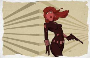 Black Widow cartoon art