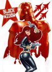 Black Widow vintage USSR poster