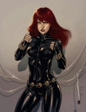 Black Widow ready to fight