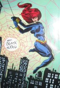 Black Widow color art from Marvel Fanfare by Al Milrgon