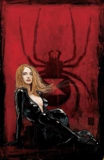 Black Widow color art by Alex Maleev