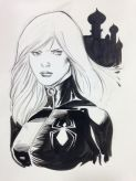 Black Widow black and white sketch by Barry Kitson