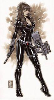 Black Widow color art by Brooks