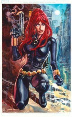 Black Widow color art by Dan Brereton