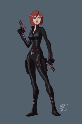 Black Widow color art by Eric Guzman
