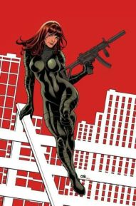 Black Widow color art by Frank Cho