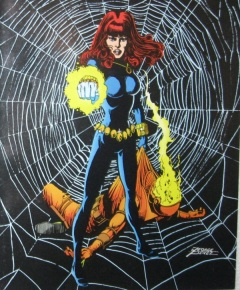 Black Widow art from Marvel Fanfare by George Lopez