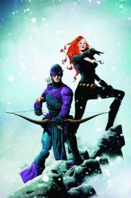 Black Widow with Hawkeye color art by Jae Lee