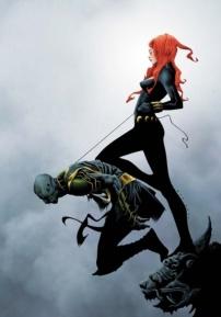 Black Widow color art by Jae Lee