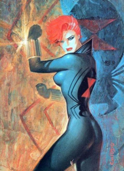 Black Widow color art by Joe Chiodo
