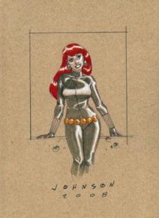 Black Widow color art by Johnson