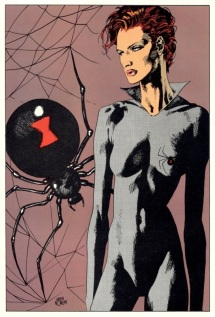 Black Widow color art by Kevin Nowlan