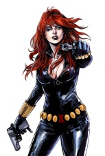 Black Widow color art by Mark Laming