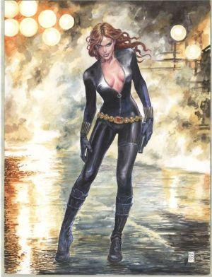 Black Widow color art by Milo Manara